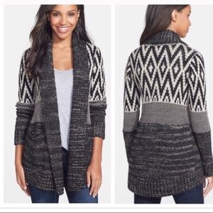 Lucky brand Stargazer tribal Cardigan sweater